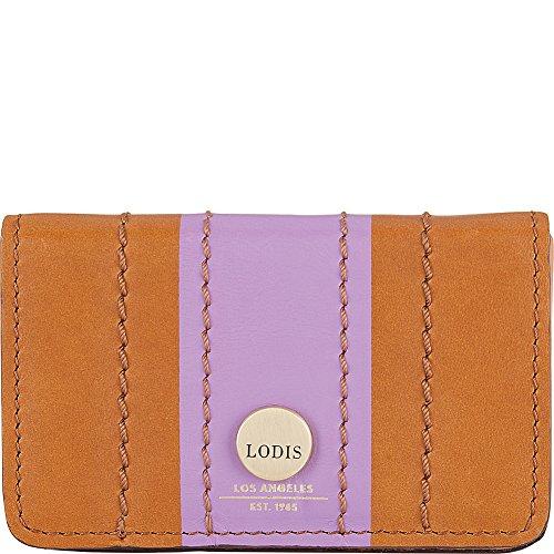 Lodis Rodeo Stripe RFID Mini Card Case (Toffee Stripe)