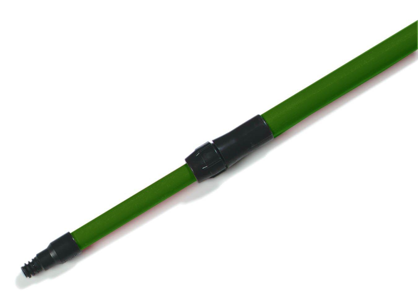 Carlisle 4102009 Sparta Spectrum Fiberglass Telescopic Threaded Handle, 1'' Dia. x 54'' to 8', Green (Case of 12)