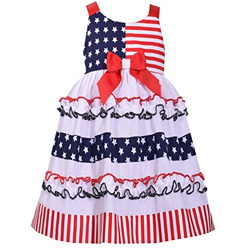 Bonnie Baby Americana Dress Color Red/White/Blue Size 0-3 Months ()