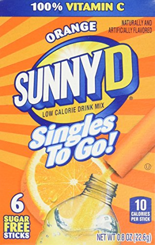 SunnyD Singles To Go Water Drink Mix - Orange Powder Sticks (12 Boxes with 6 Packets Each - 72 Total Servings)