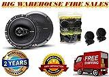 (2) Rockford Fosgate R165-S 6.5' Car Component Speakers+(2) R165X3 6.5' Speakers