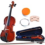 ADM 4/4 Full Size Handcrafted Solid Wood Student Acoustic Violin Starter Kit