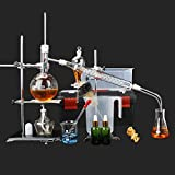 Home Distiller Distilling to Making Your Own Essential oil, Moonshine, Alcohol Distiller Chemistry Lab Glassware Kit,glass Distilling,distillation Apparatus 20pcs set, 500 ML