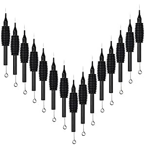 VideoPUP(TM) Professional 15pcs 7RL Round Liner Disposable Tattoo Needles Tube Grip Sterilized