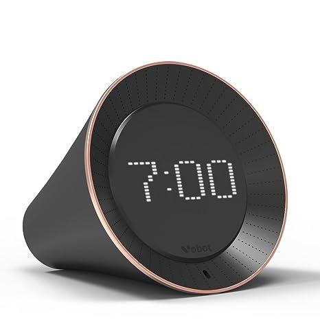 VOBOT Smart Wifi Alexa - Reloj despertador con pantalla LED, altavoz de 5 W,