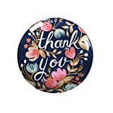 Huayoung Colorful & Beautiful Round Ceramic Dinner Dessert Plate 10-inch Accent Plate (10-inch, Thank you)