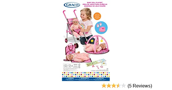 Amazon.com: Graco Baby Doll Playset with Stroller, Playgym, Travel Bag, Potty, Baby Monitors and Accessories: Toys & Games