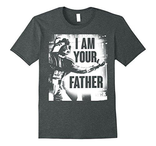 Mens Star Wars Darth Vader Your Father Dad Spray Paint T-Shirt Medium Dark Heather