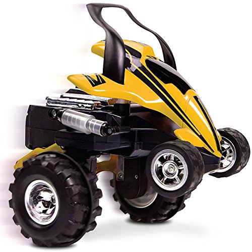 Full Function Radio Control - Sharper Image RC Street Savage Stunt Car, Perform 360 Degree Spins, Wheelies, Jumps, and More, Full Function Wireless Radio Remote Control, All Terrain Tires, Spring Loaded Shocks, Yellow/Black