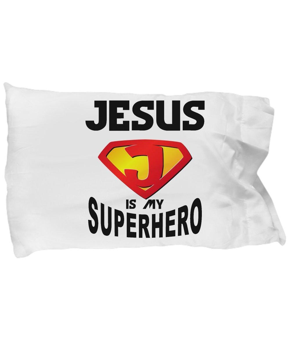 Funny Novelty Gift For Christian Jesus is My Superhero Best Jesus, Christ, Christian Pillow Case