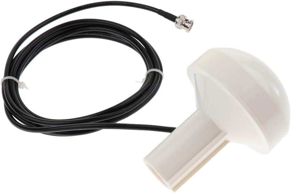 Gazechimp Antenas GPS Marinas 2.4M BNC Cables Macho Antenas para Barco Garmin Barco GPS