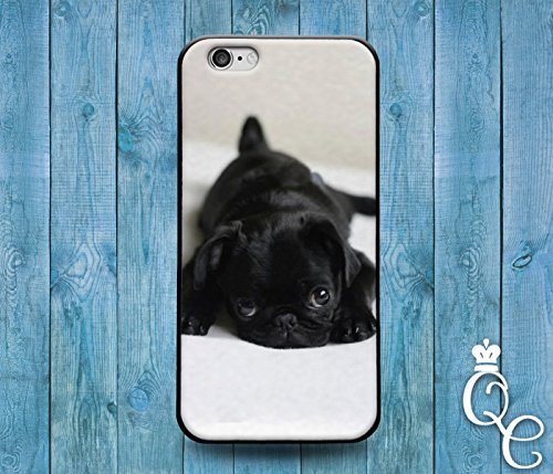 Price comparison product image *BoutiqueHouse* iPhone 4 4s 5 5s 5c SE 6 6s plus iPod Touch 4th 5th 6th Gen Cover Case Black Puppy Bulldog Dog Pug Pup Cute Funny Animal Baby Cool Rubber(iPhone SE)