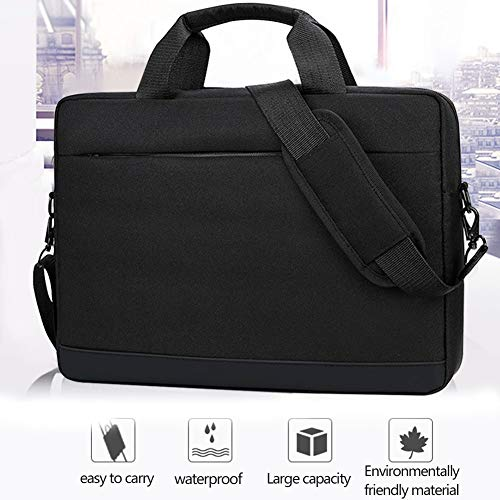 (Laptop Bag Shoulder Messenger Bag for Women Men 14 inch Black Lightweight Waterproof Slim Business Office Work Stylish Tote Multi-Functional for Notebook Computer Surface Book Nylon Backpack)