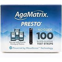 AgaMatrix Presto Test Strips, 100 Count Box