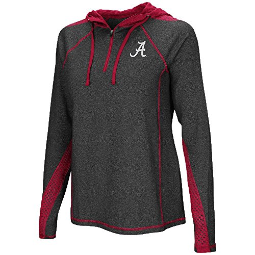 Womens Alabama Crimson Tide Quarter Zip Hoodie - M by Colosseum