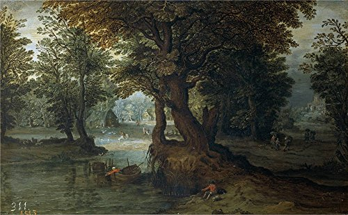 Oil Painting 'Anonymous Paisaje 17 Century ' Printing On Polyster Canvas , 30 X 48 Inch / 76 X 123 Cm ,the Best Game Room Decoration And Home Gallery Art (Diy Black Swan Costume Ideas)
