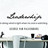 My Vinyl Story Premium George Van Valkenburg Quote Inspirational Wall Decal for Home, Business, Office Decor Leadership Be Inspired with a Typography Decoration Sticker Words and Sayings 36x13 inche