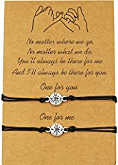 Pinky Promise Distance Matching Bracelets for Best Friends Couple Family Enjoy these bracelets ,it reminds of that even in the hard times you have each other. Great gift with good wishes for someone: as a friendship bracelet, couples bracelet...