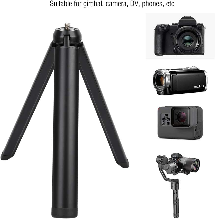 Senyar Mini Tripod,Mini Aluminium Alloy Heavy Load Folding 1//4 Screw Tripod Accessory Black