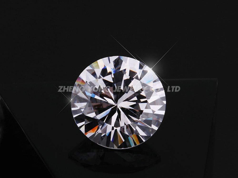 Calvas 1000pcs 1.75mm A-5A Quality Round Machine Cut White Cubic Zirconia CZ Stone Color: 1.75mm-3A-1000pcs