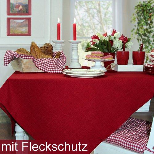 Sander Tischdecke LOFT Farbe 01 rot mit FLECKSCHUTZAUSRÜSTUNG Größe ...