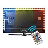 XCSOURCE 118inches LED TV Bias Lighting Backlight Strip RGB Changing Color Remote Control Strip Kit, USB Powered, Ambient Background Lighting for HDTV TV PC Monitor LD1098