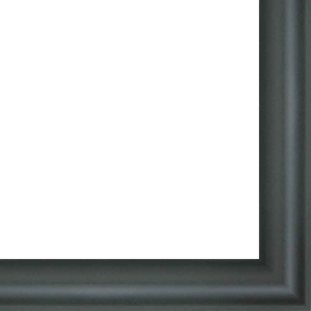 12x40 - 12 x 40 Rounded Black Solid Wood Frame with UV Framer's Acrylic & Foam Board Backing - Great For a Photo, Poster, Painting, Document, or Mirror