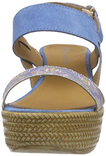 Donna Comb Tamaris 853 blau Blu 28364 denim Sandali qpnwafUE