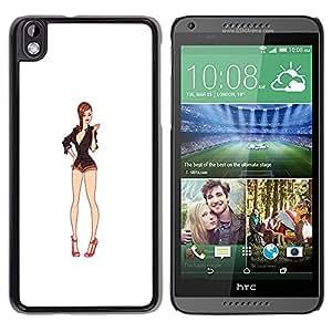 FlareStar Colour Printing Sexy Legs White Babe Cleavage Pin Up cáscara Funda Case Caso de plástico para HTC DESIRE 816