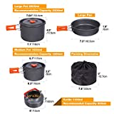 REDCAMP 22 PCS Camping Cookware Set for Family with