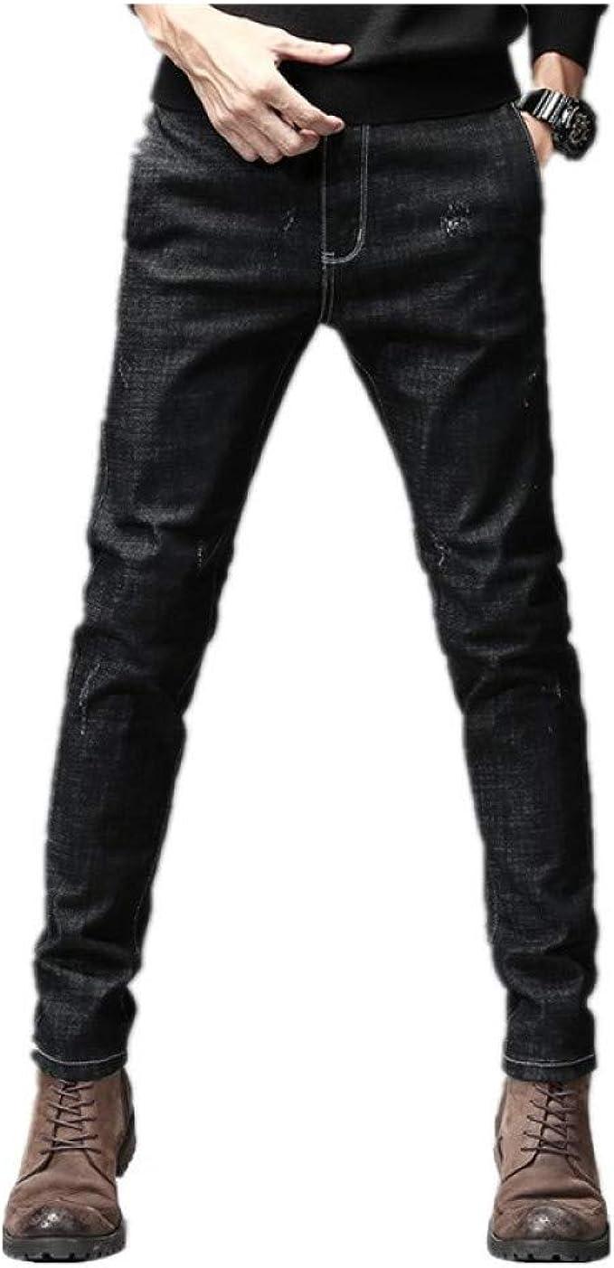 Hosd2020 Otono E Invierno Nuevos Hombres Jeans Juveniles Casual Slim Moda Simple Pantalones Salvajes Ropa De Hombre Amazon Es Ropa Y Accesorios