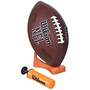 Wilson NFL Enforcer Football with Pump and Tee, tan