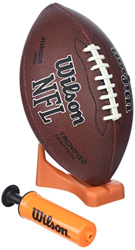 Wilson NFL Enforcer Football with Pump and Tee ()