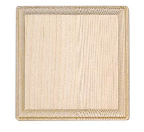 4 inch Wooden Square Plaque