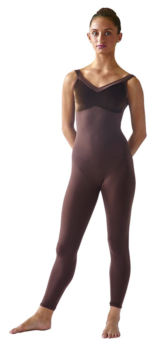 SteelCore Women's Camisole Velvet Bra Unitard Medium Chocolate by Steel Core