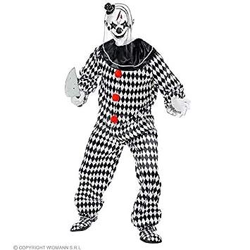 Lively Moments Kostum Zirkus Clown Weiss Schwarz Horrorclown