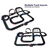 AGM Giant Deluxe Slot Car set Double Loop Electric Slot Car Race Set- 15ft Track Set with 2 Speed Cars - Electric / Hand Remote control For 5-12 year old Car children's toys-13.5M Track