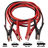 AmazonBasics Jumper Cable for Car Battery, 4 Gauge, 20 Foot