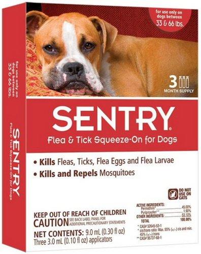 Sergeants Pet Care Prod Sent 4CT 66LB Flea/Tick