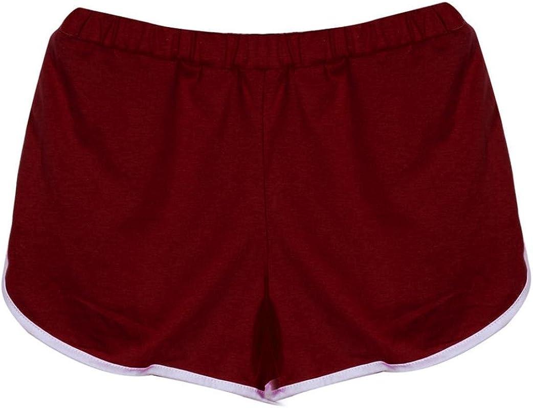 Pantalones Cortos Mujer,KanLin1986 Pantalones Deportivos Mujer Yoga Hot Pants Shorts Tiro Alto Shorts Fiesta Bermudas de Mujer Bermudas Deportivas Gym Leggins Push up