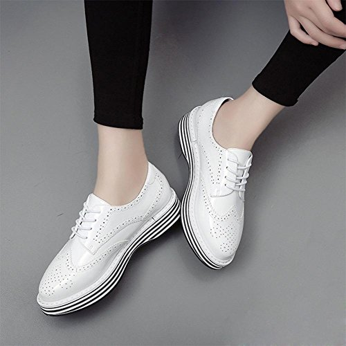 Frau Frühling Aufzug Schuhe Freizeitschuhe dick mit sondert Schuhe aus Leder Schuhe Muffin Frau , US7.5 / EU38 / UK5.5 / CN38
