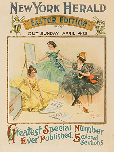 New York Herald - Easter Vintage Poster - Easter wall decorations