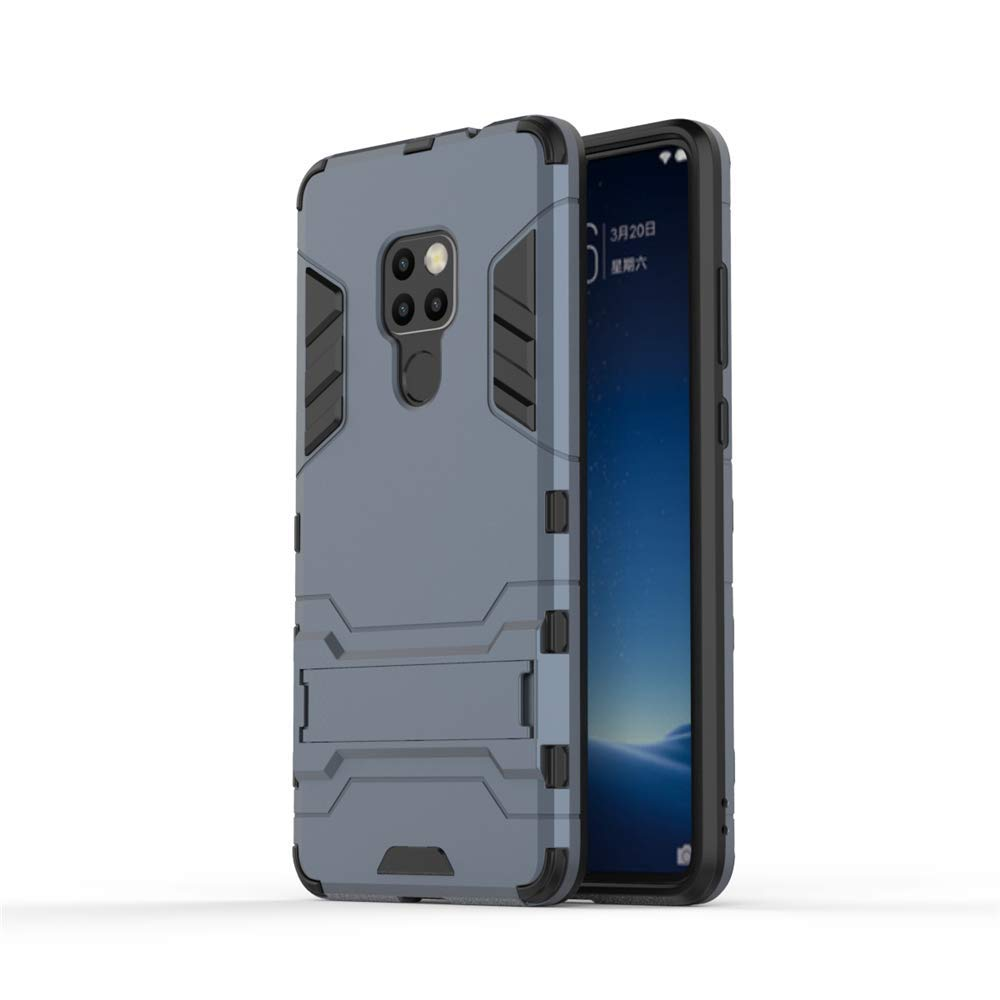 MHHQ 2in1 Armadura Combinaci/ón Heavy Duty Escudo C/áscara Dura PC Huawei Mate 20 Funda Black Plus Gray Suave TPU Silicona Case Cover con soporte para Huawei Mate 20