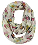 Nexxgen Fashion Designer Infinity Loop Scarf for Women- 30 Variations, Animal Print, American Flag, Red Black Blue Pink White etc. (Scottie- Wheat)