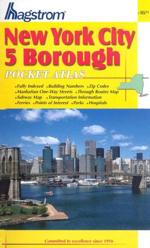 New York City 5 Borough Pocket Atlas for sale  Delivered anywhere in USA