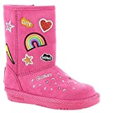 Skechers Twinkle Toes Glamslam 10817N Girls' Infant-Toddler Boot 7 M US Toddler Hot Pink-Multi