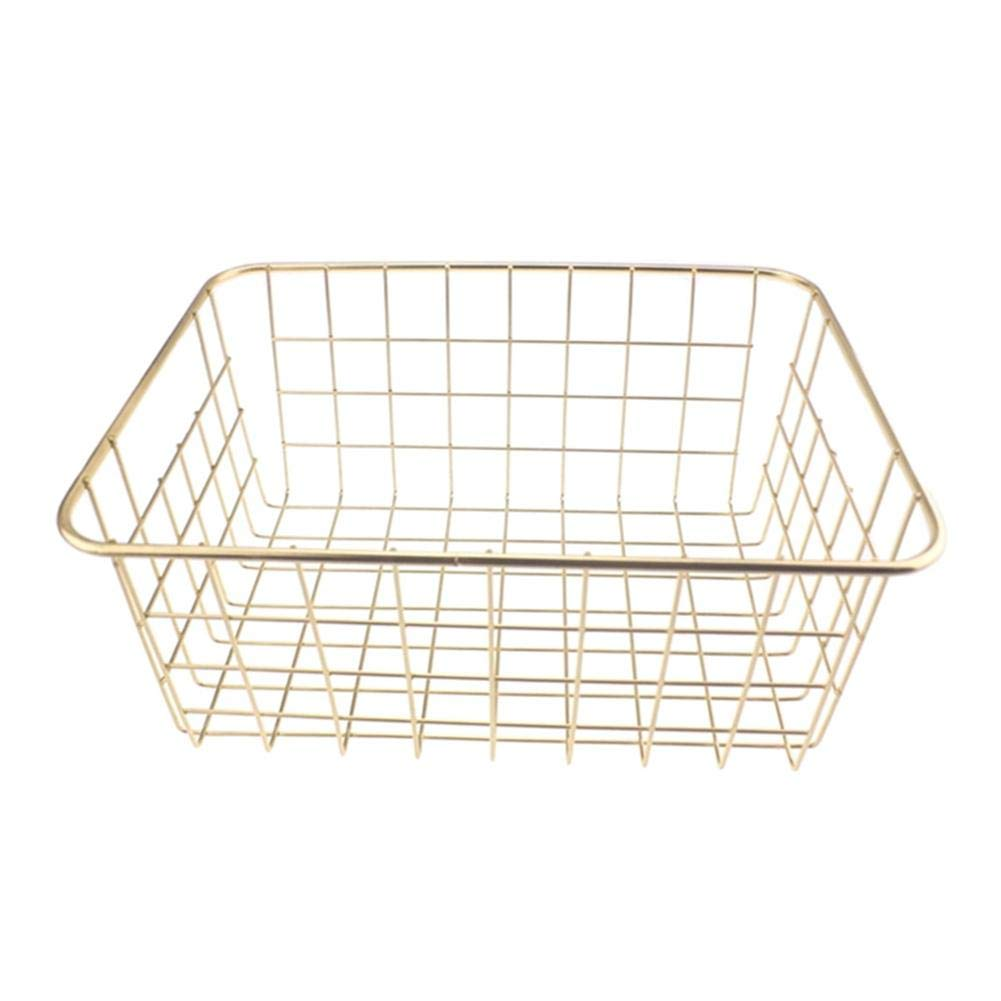 KOBWA Wire Storage Basket Household Wire Storage Organizer Bin Basket Kitchen Cabinets, Pantry, Closets, Bedrooms, Bathroom