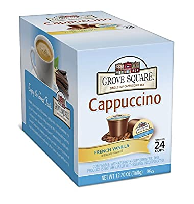 Grove Square Cappuccino, Single Serve Cup for Keurig K-Cup Brewers from Grove Square Cappuccino