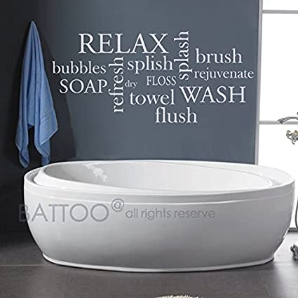 Amazon.com: BATTOO Bathroom Wall Decor Bathroom Wall Decal ...
