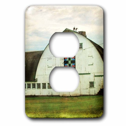 3dRose lsp/_108208/_6Amish Barn Quilt by Angelandspot 2 Plug Outlet Cover Multicolor